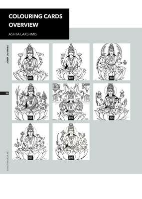 Colouring Cards 'ASHTA LAKSHMIS'
