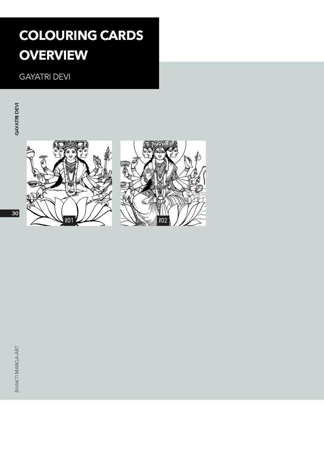 Colouring Cards 'GAYATRI DEVI'