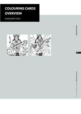 Colouring Cards 'SARASWATI DEVI'