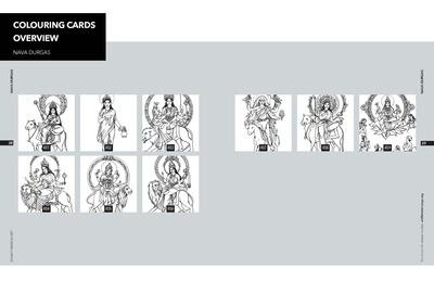 Colouring Cards 'NAVA DURGAS'