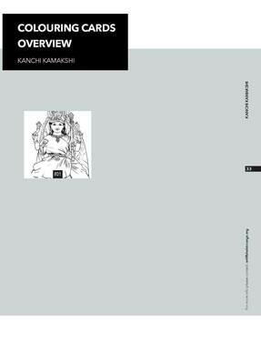 Colouring Cards 'KANCHI KAMAKSHI'