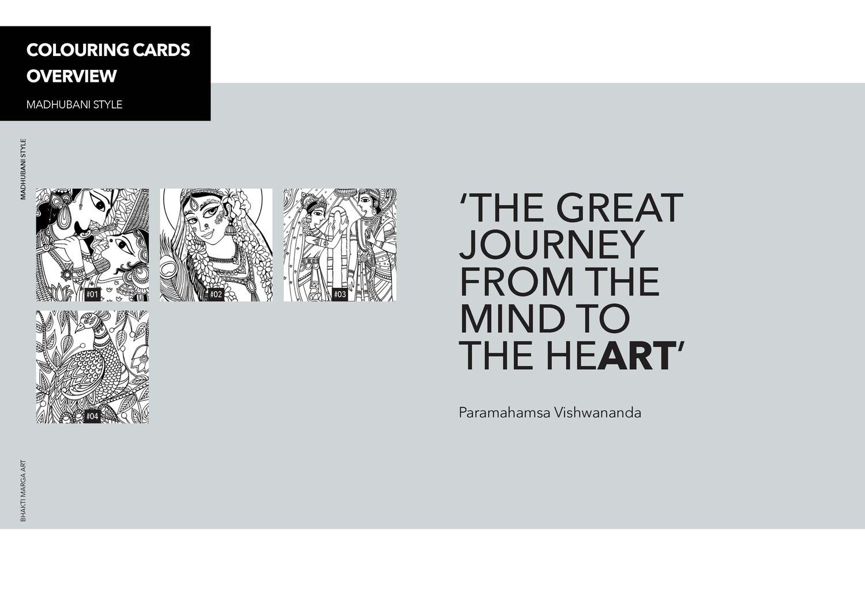 Colouring Cards 'MADHUBANI STYLE'