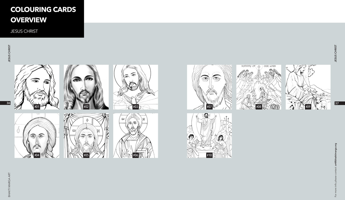 Colouring Cards 'JESUS CHRIST'