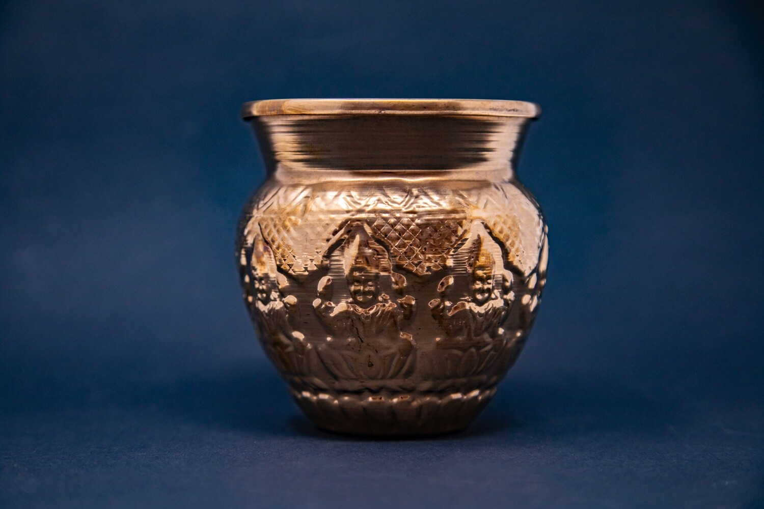 Ashta-Lakshmi Copper Lota Pot