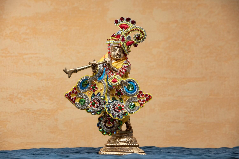 Lord Krishna murti - panchaloha