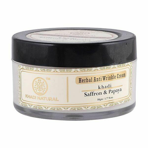 Khadi Herbal 'Saffron & Papaya' Anti-Wrinkle Cream