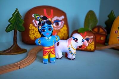 Krishna with Calf  - Children's Stuffed Toys
