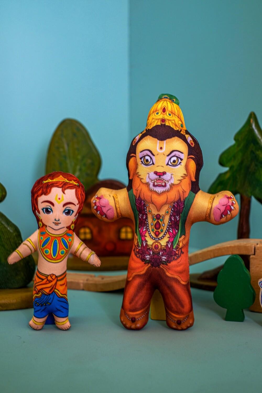 Lord Narasimha and Prahlad Maharaja  - Children's Stuffed Toys