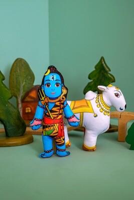 Lord Shiva and Nandi Bull  - Children's Stuffed Toys