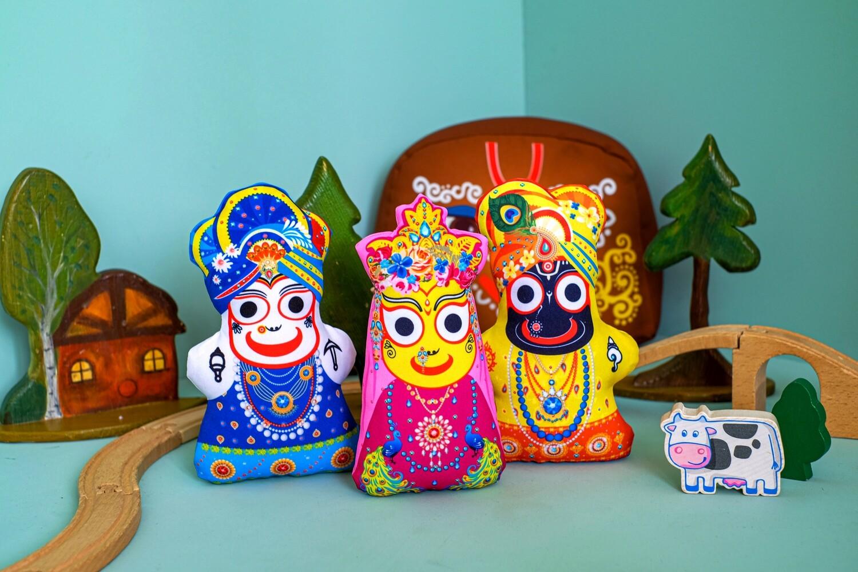 Lord Jagannatha, Balarama and Subhadra - Children's Stuffed Toys