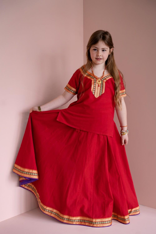Girl's Gopi Dress Set, 11-12 years