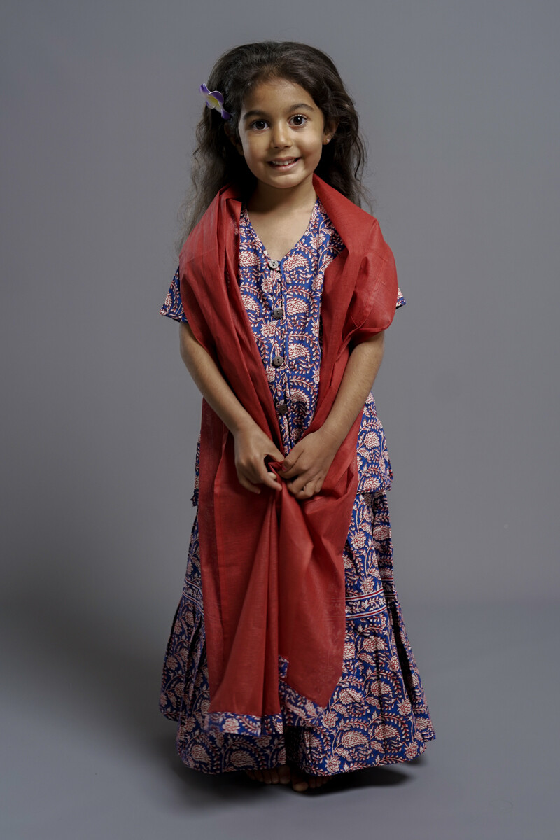 Girl's Simple Cotton Set,  5-6 years