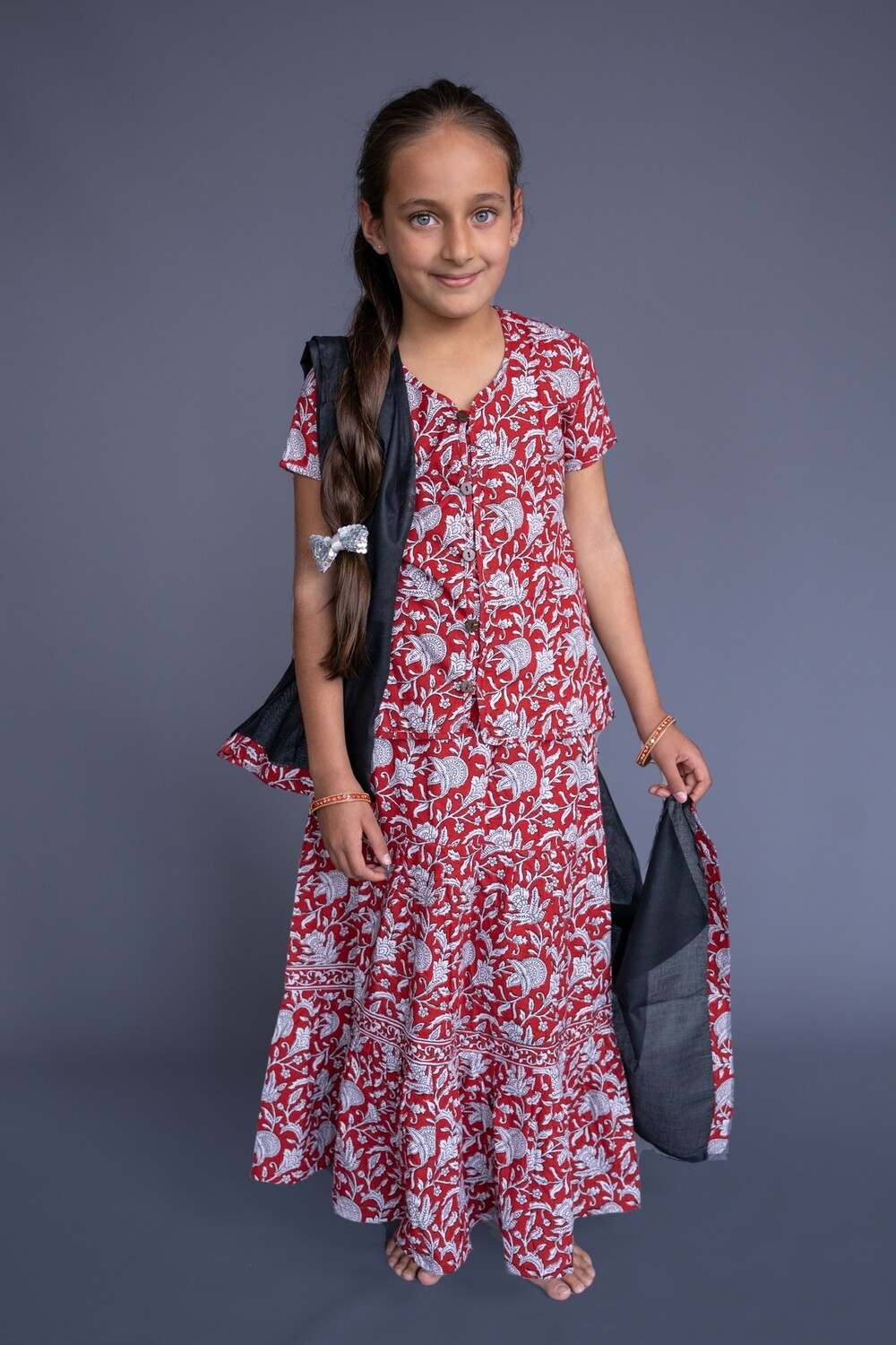 Girl's Simple Cotton Set,  7-8 years