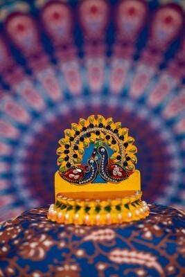 Decorative Deity Asana - Miniature