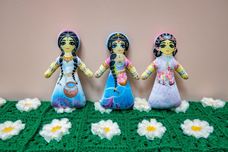Radha and Gopis - Children's Stuffed Toys