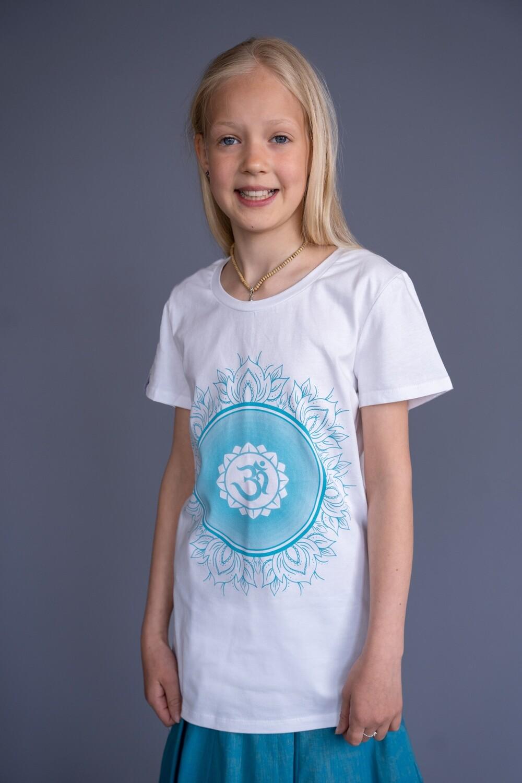 T-shirt 'OM Chanting' - white