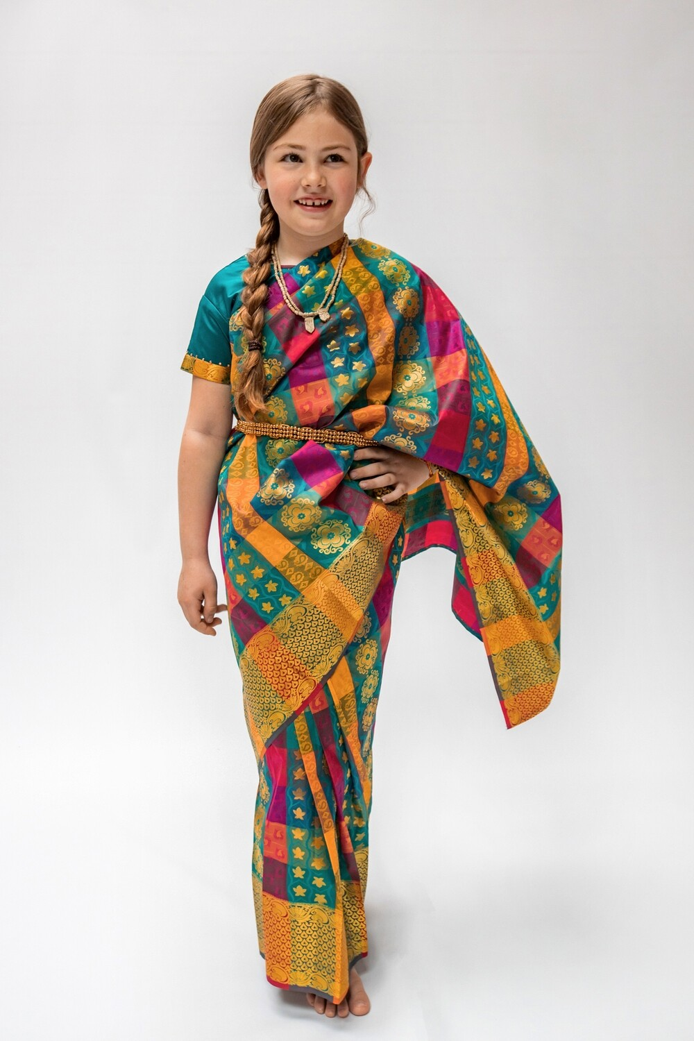Traditional Half Saree with Blouse, 7-8 years