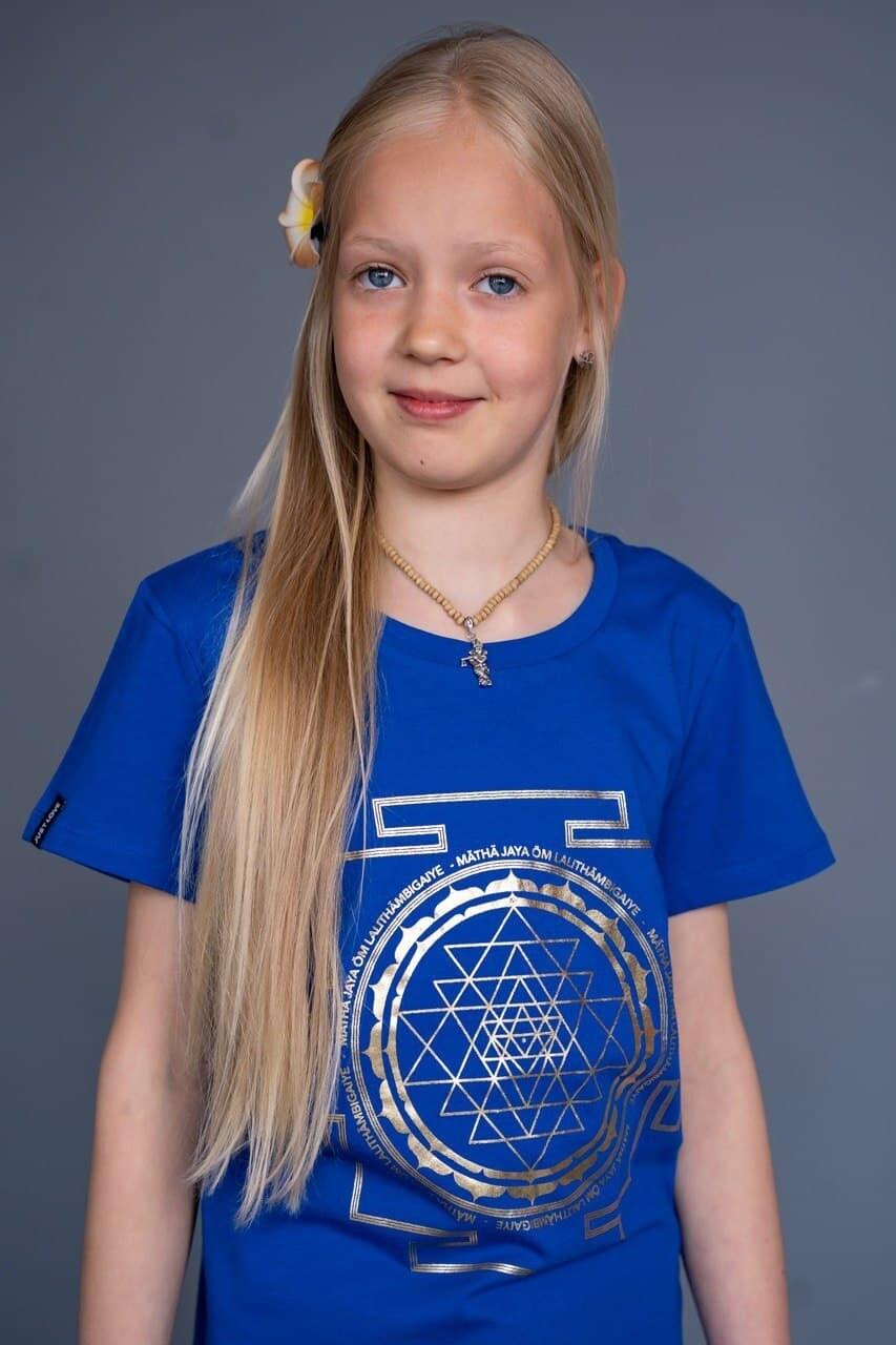 T-shirt 'Sri Yantra' - Royal Blue