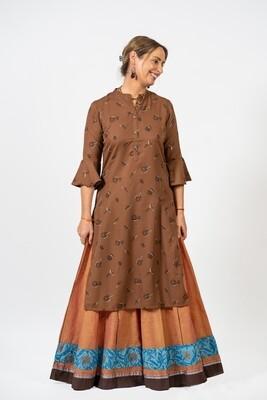 Brown Woodland Tunic, sizes M+XL