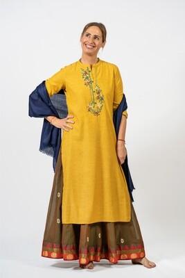 Marigold Asian Tunic, size 'M'