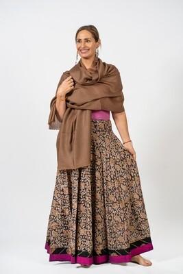 Black & Beige 'Tulsi Forest' Skirt, size 'M'