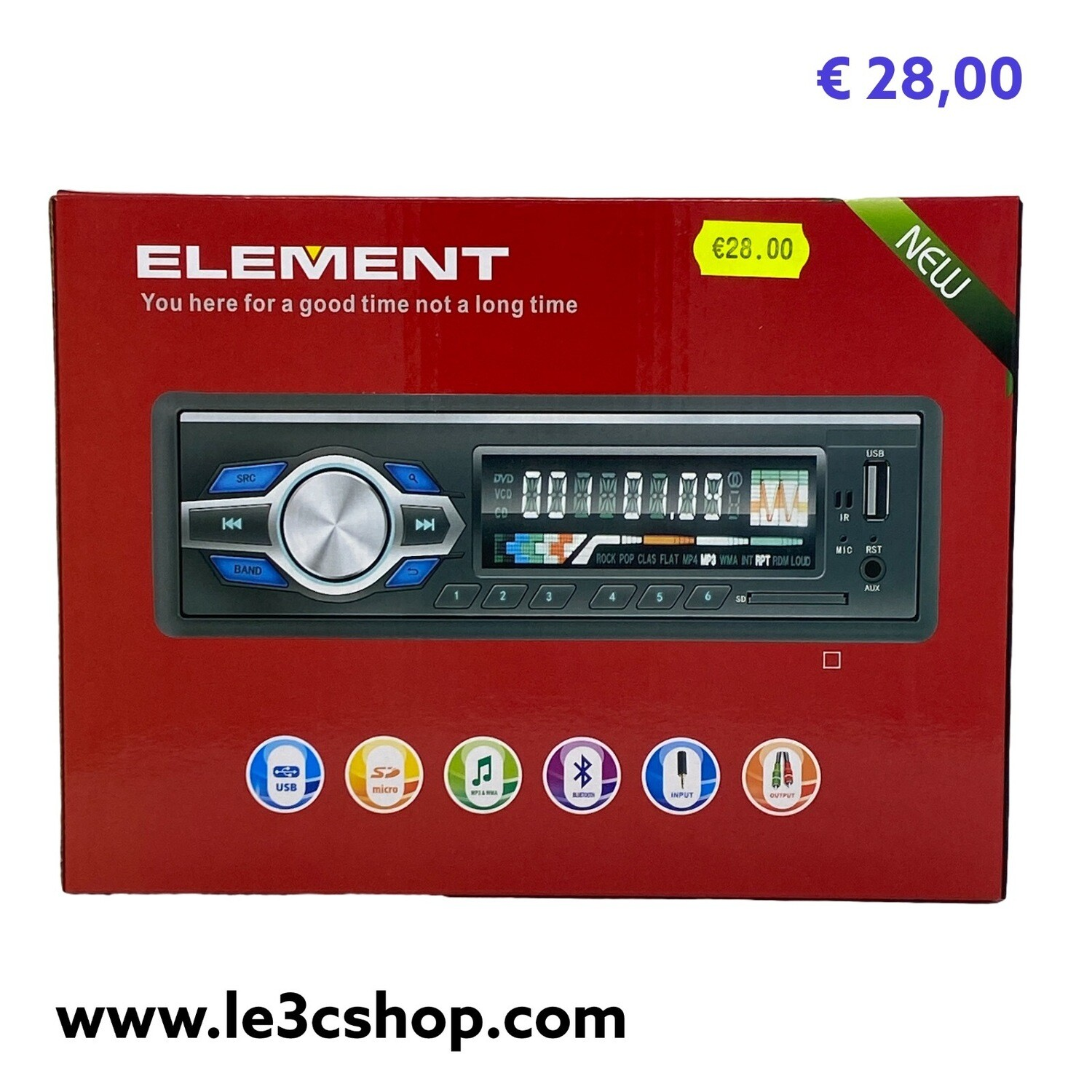 Autoradio Bluetooth Mp3 Element