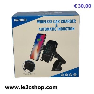 Supporto Auto Motorizzato Con Carica Wireless