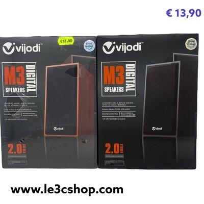 Speaker Pc 2.0 Usb m3 Vijodi