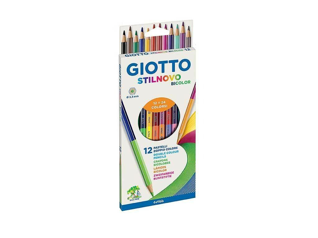 Giotto Pastelli Stilnovo Bicolor 12pz.