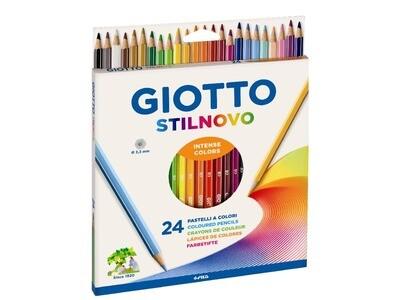 Giotto  Pastelli Stilnovo 24 pezzi