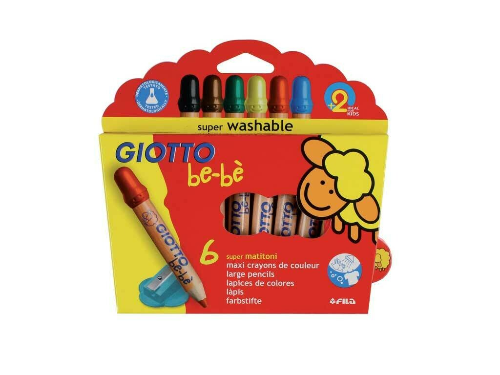 Giotto be-bè Matitoni Super Washable 6pz.