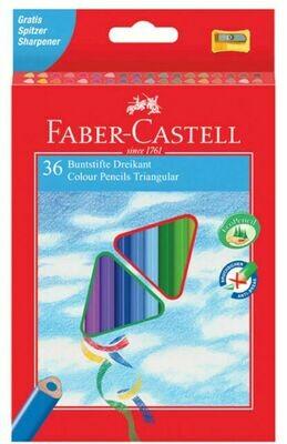 Faber-castell Astuccio 36 colori a Matita triangolari con Temperino