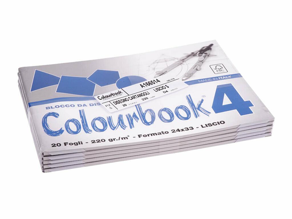 Colourbook Blocco da disegno F4 24x33
