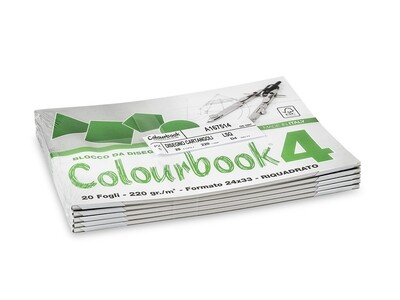 Colourbook Blocco da disegno 4 24x33 - Riquadrato
