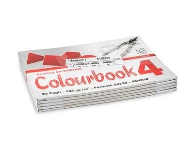 Colourbook Blocco da disegno 4 24x33 - Ruvido