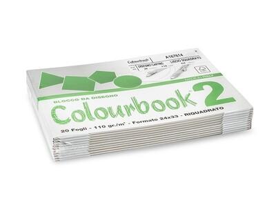 Colourbook  Blocco da disegno 24x33 - Riquadrato