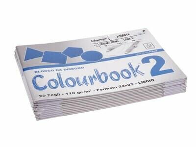 Colourbook Blocco da disegno 2 24x33 - Liscio