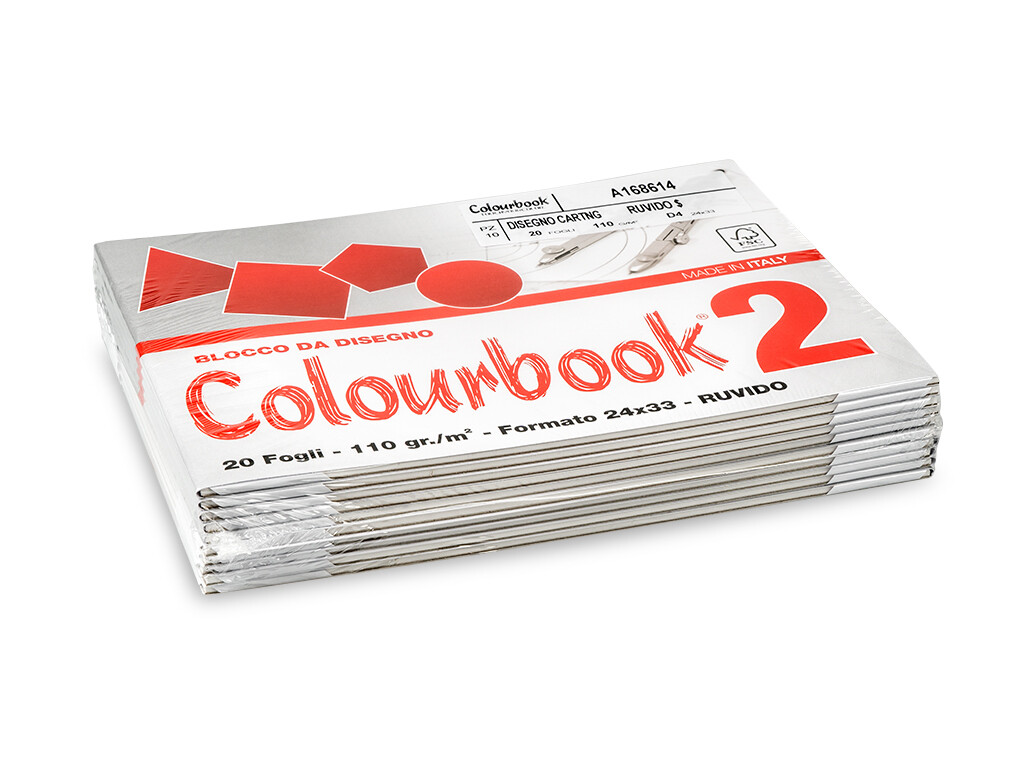 Colourbook Blocco da disegno 2 24x33 - Ruvido