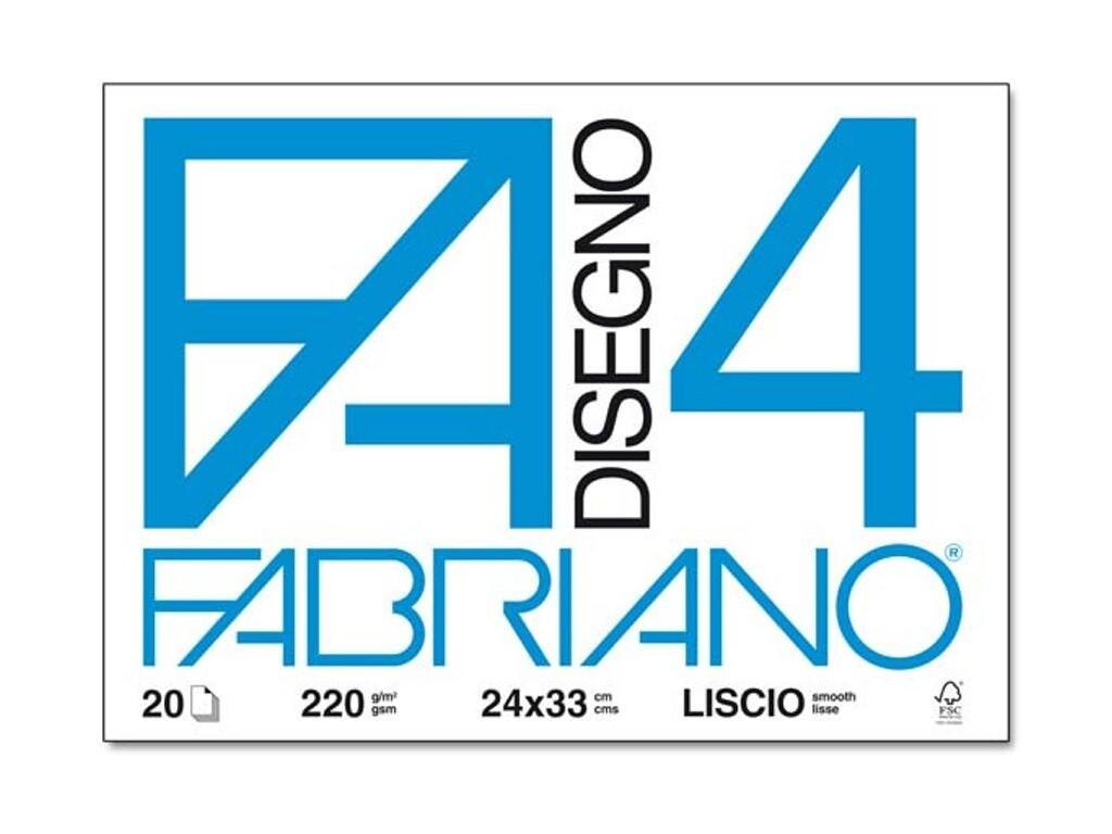 Fabriano  Blocco F/4 24x33 20 fogli - Liscio