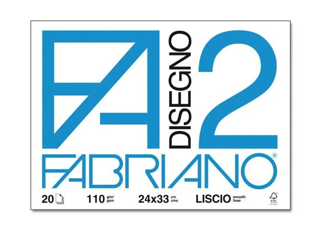 Fabriano  Blocco F/2 24x33 20 fogli - Liscio
