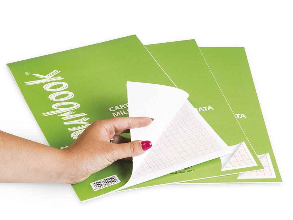 Colourbook Blocco carta millimetrata