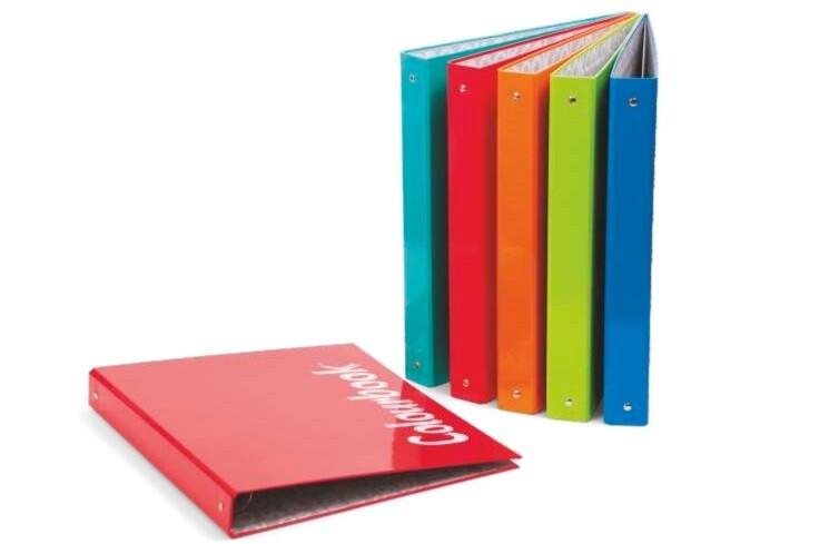 Colourbook Custodia A4 4 Anelli fluo e pastel