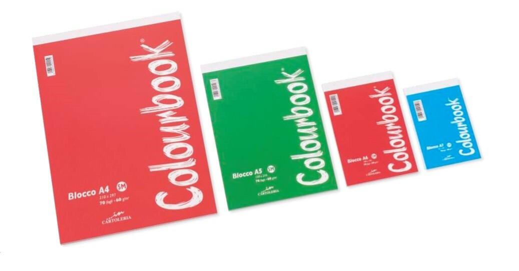 Colourbook Block Notes A7 Incollato 5mm