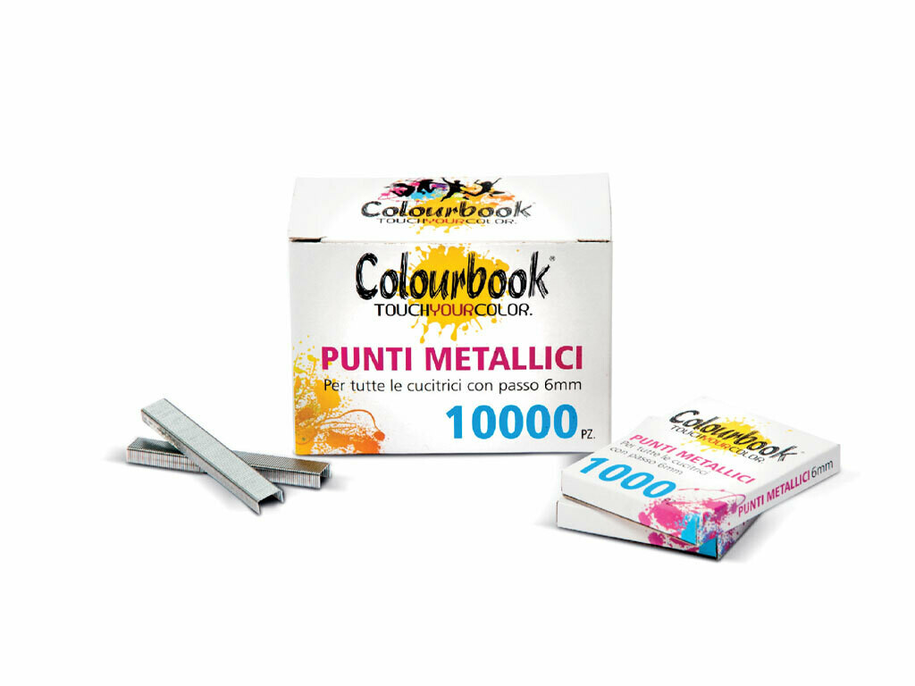 Colourbook Punti metallici passo 6mm 10 conf