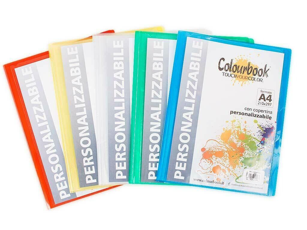 Colourbook Portalistino A4 personalizzabili 40 buste