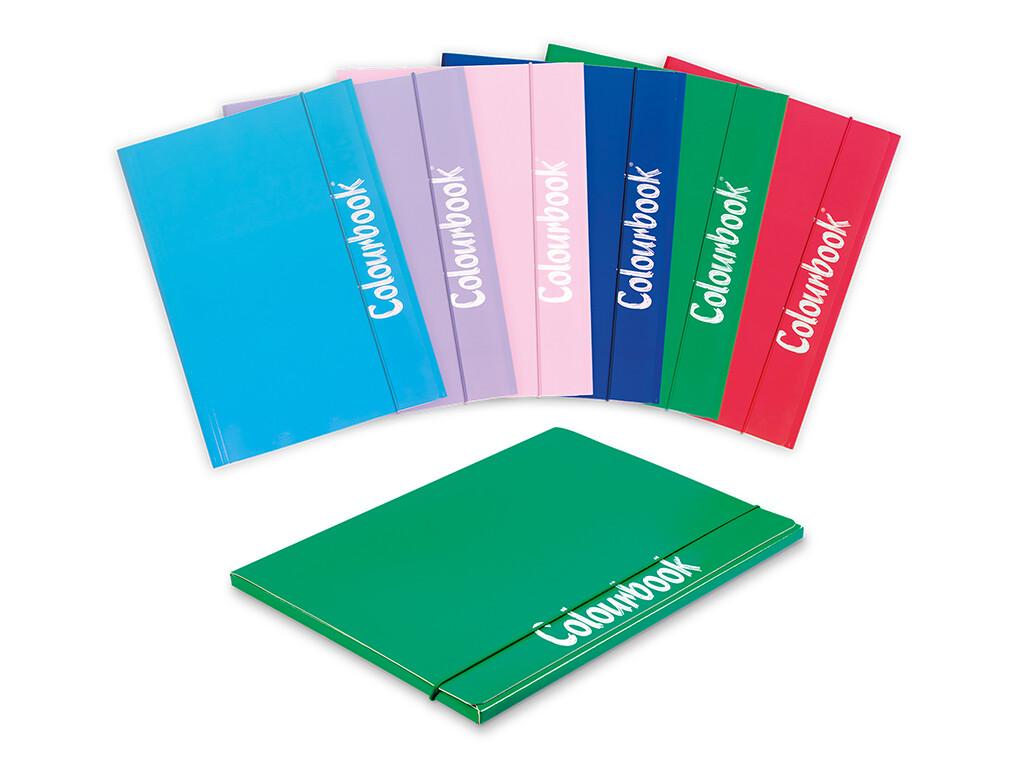 Colourbook Cartella A4 c/elastico dorso 1cm colori ufficio