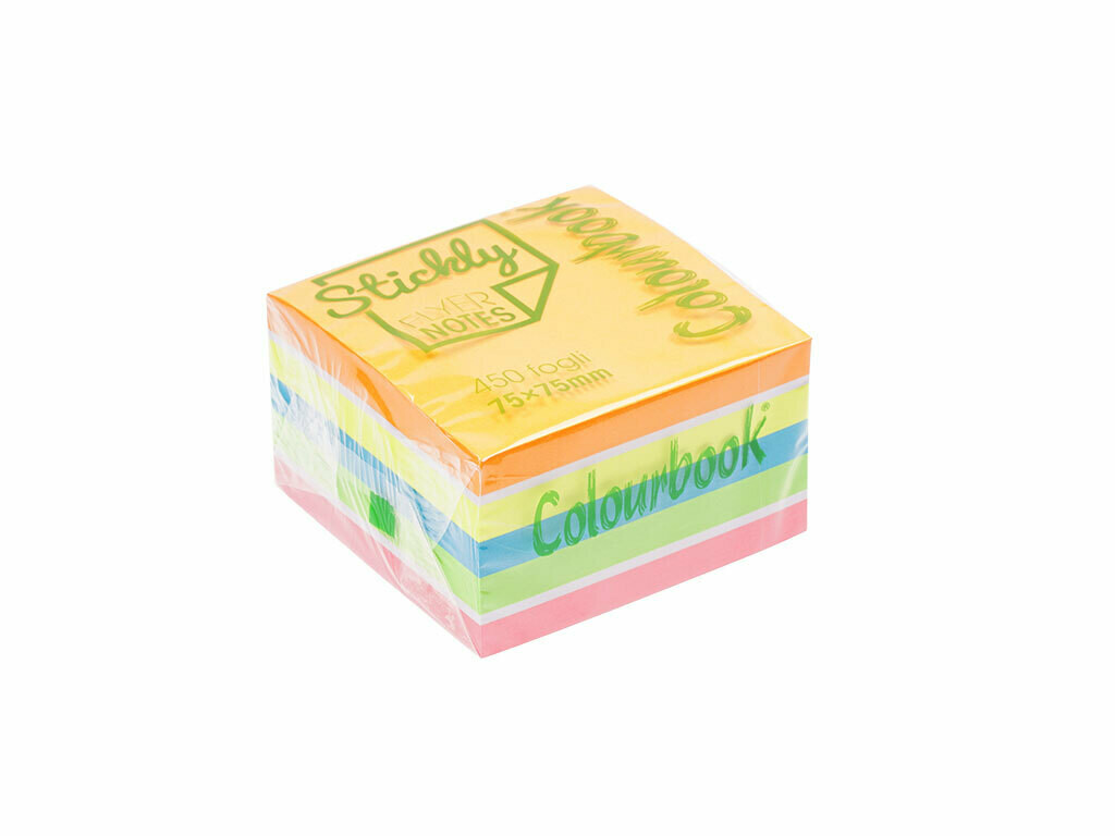 Colourbook Cubo Stickly Notes Fluo 450gr.