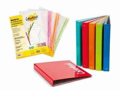 Colourbook Custodia A4 dorso 30 + 50 interni forati con banda colorata