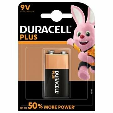 Batteria 9v duracell plus power