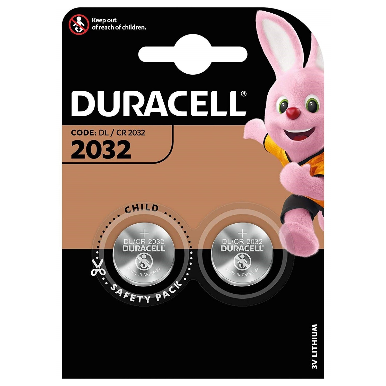 Batteria 2032 duracell plus power